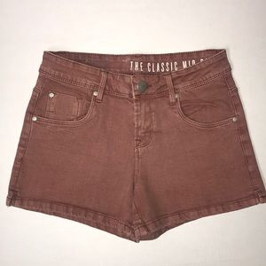 Cotton On reddish-brown denim shorts